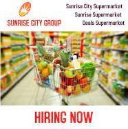 Sunrise City Supermarket LLC Dubai Recruitment Storekeepers, Assistant Buyers, Supervisor and Managers