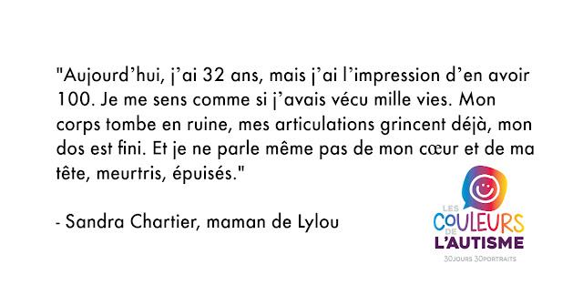 Autisme, la couleur de Lylou #30couleurs Julie Philippon Mamanbooh