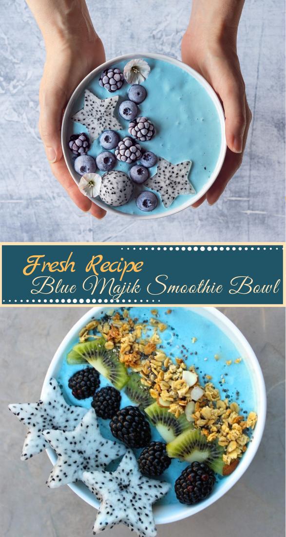 Blue Majik Smoothie Bowl #healthyfood #dietketo #breakfast #food