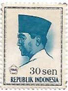 Selo Presidente Sukarno, 30 sen