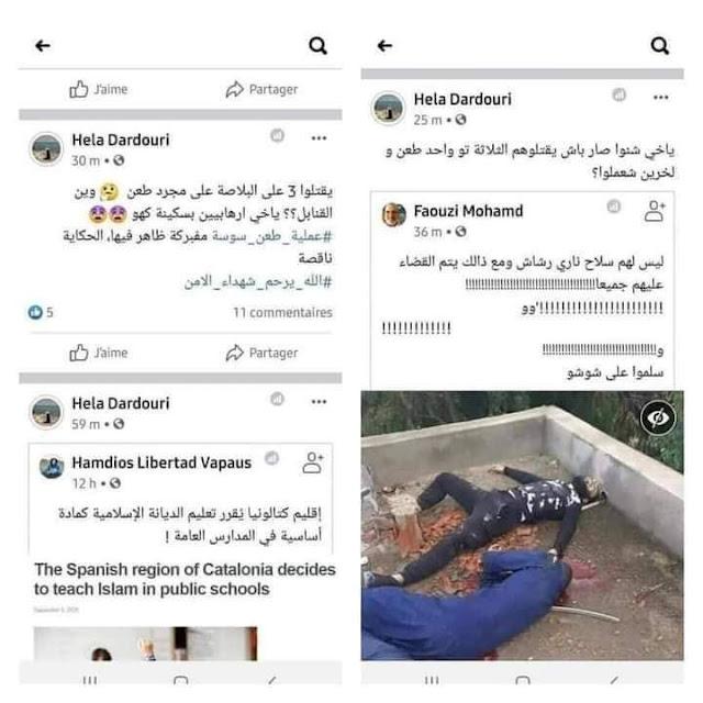 بالصور: مرشحة عن إئتلاف الكرامة بسوسة تشكك بالعملية الإرهابية وتتحسّر على موت ثلاثة إرهابيين …  و أنباء عن إيقافها !