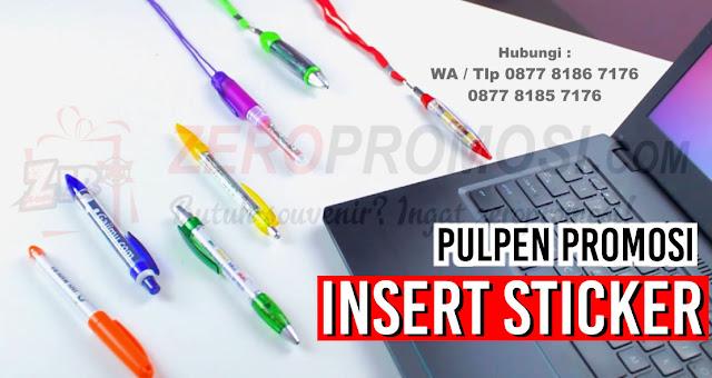 pen insert stiker, pulpen insert stiker, pen promosi, souvenir pen, jual pen promosi, barang promosi, souvenir kantor