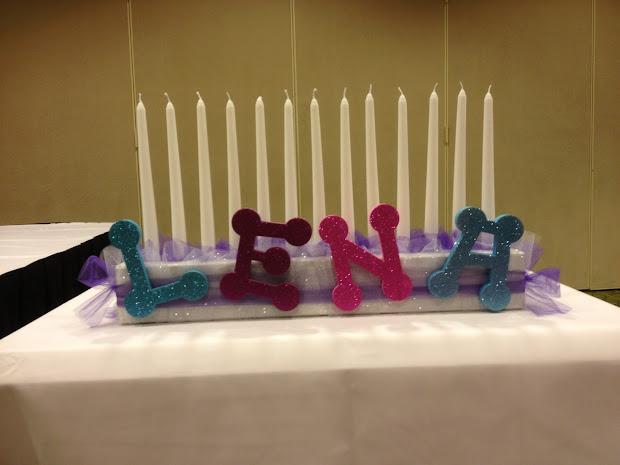 Adventures In Diy Bat Mitzvah Candle Lighting Board