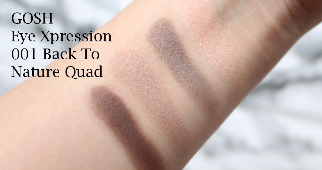 GOSH Eye Xpression in 001 Back To Nature review swatches