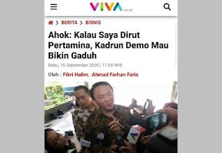 Jika Pernyataan Rasis Ahok Dibiarkan Jokowi, Dikhawatirkan Terjadi Konflik Antar Etnis