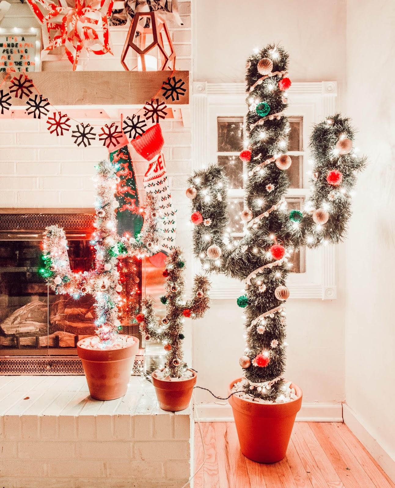 Cactus Christmas Tree.Mini Cactus Christmas Tree Diy