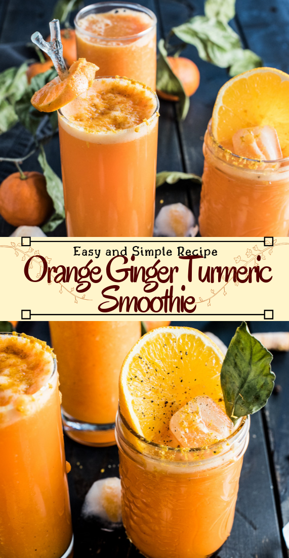 Orange Ginger Turmeric Smoothie  #healthydrink #easyrecipe #cocktail #smoothie