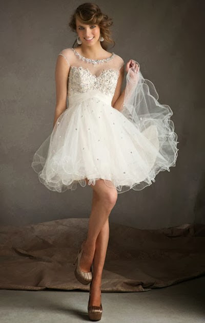 Short Lace Wedding Dress Feminine Style in Special Day
