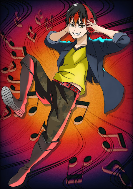 Man with headphones (free anime images)