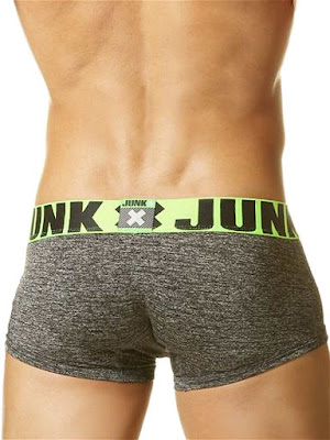 Junk Smoke Trunk Underwear Green-Grey Back Detail Gayrado Online Shop