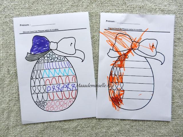 || Nos activités de Pâques oeuf graphique