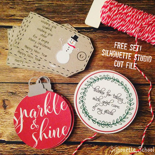 Silhouette Cameo, Silhouette Studio, free cut file, Christmas gift tag, do it yourself, DIY