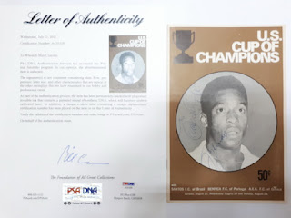 U.S. Cup of Champions Soccer Program Signed Pele PSA/DNA Certified