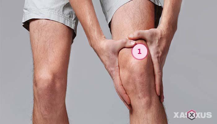 Letak kedutan lutut kiri bagian tempurung