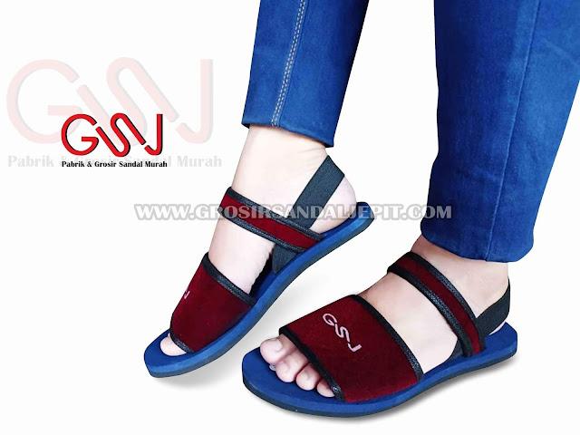 Sandal Spon Talincang Wanita GSJ - Model Sandal Wanita Kekinian