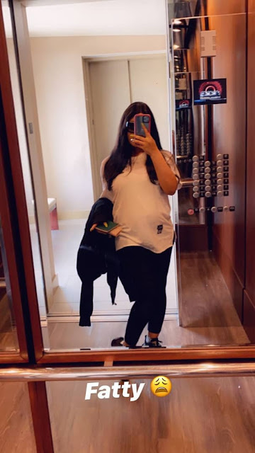 Wow!!! BBNaija Nina flaunts her baby bump in new photos