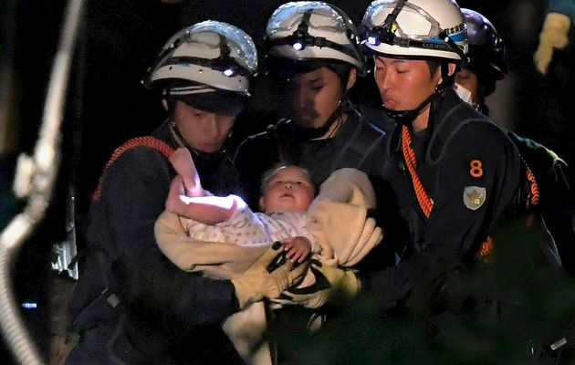 Rescuers search for survivors after deadly Japan quake