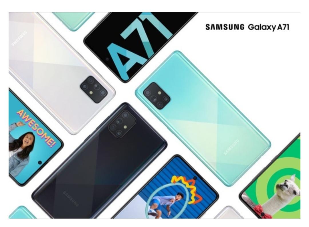 Samsung Galaxy A71 dengan Snapdragon 730 dan Quad Rear Cameras Diumumkan