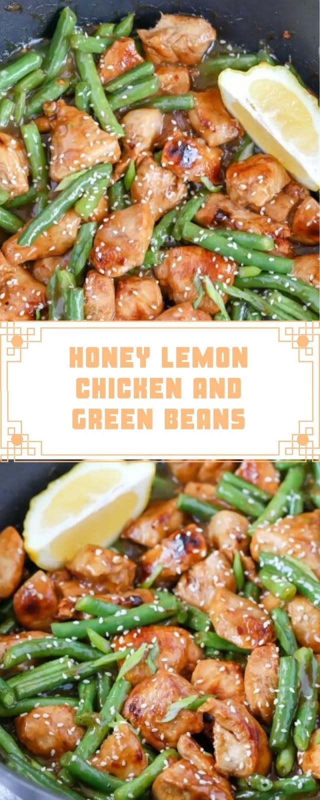 HONEY LEMON CHICKEN AND GREEN BEANS