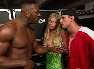 WCW Uncensored 2000 - Booker T confronts Billy Kidman and Torrie Wilson backstage