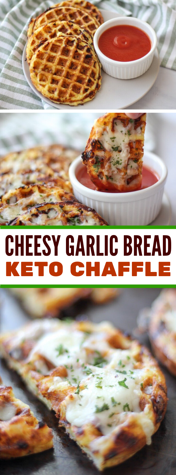 EASY KETO CHEESY GARLIC CHAFFLE BREAD #healthy #appetizers