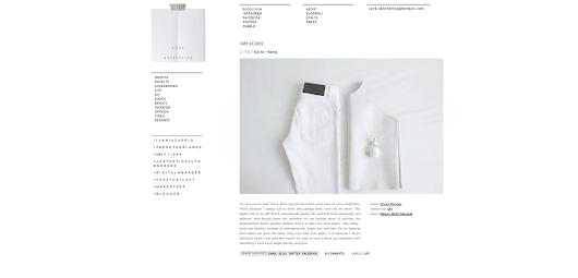 GRAFICA / Love Aesthetics New Blog Layout