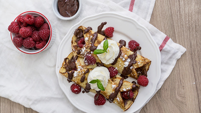 Raspberry Nutella Crepes