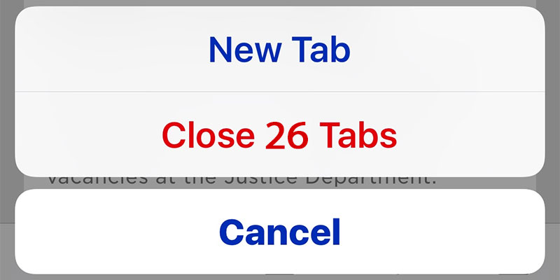 close all tabs in safari on iphone