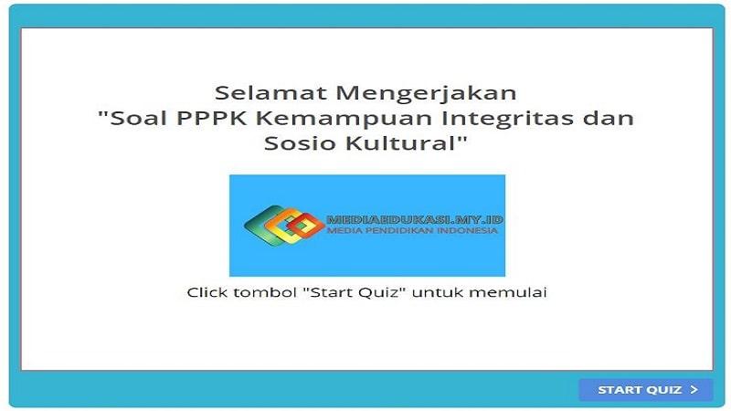 Soal PPPK Kemampuan Integritas dan Sosiokultural