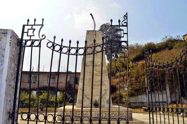 Saheed Park in Kalimpong vandalised