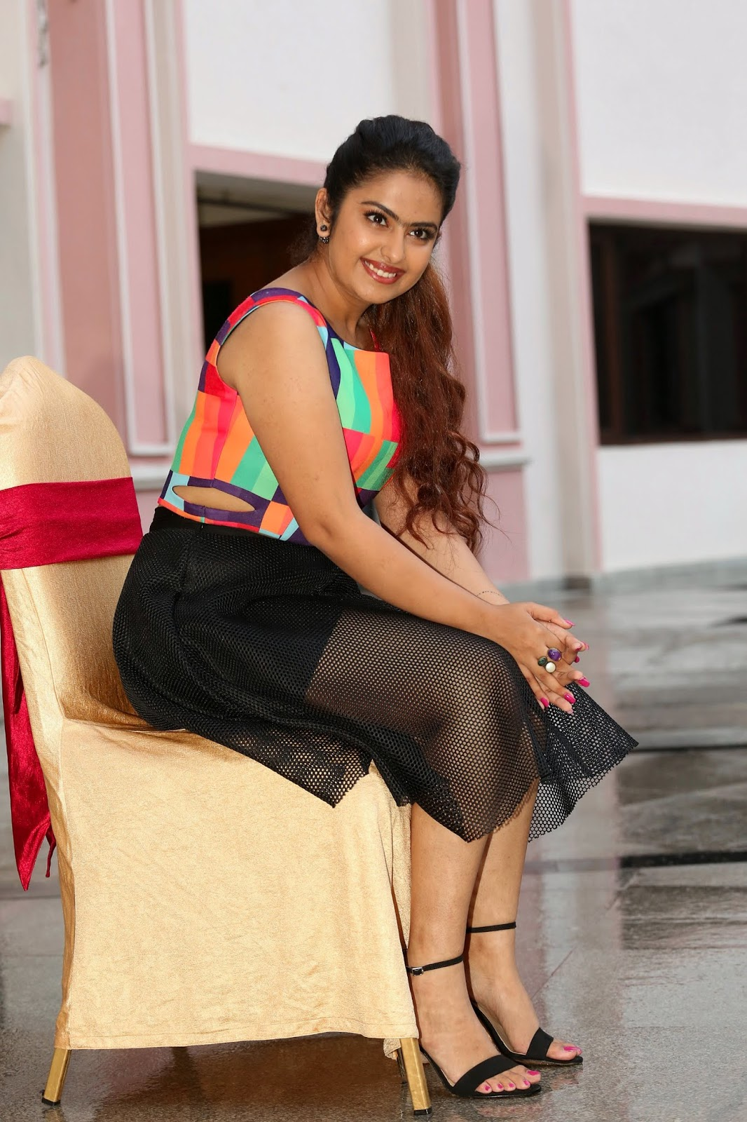 Avika Gaur Looks super cute in a transparent net black skirt