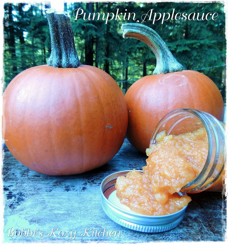 This Pumpkin Applesauce Recipe is easy to make and the perfect way to celebrate fall flavors! #pumpkin #apple #applesauce #easy #DIY #homemade #recipe | bobbiskozykitchen.com