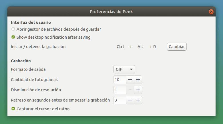 Configuración de Peek - El Blog de HiiARA