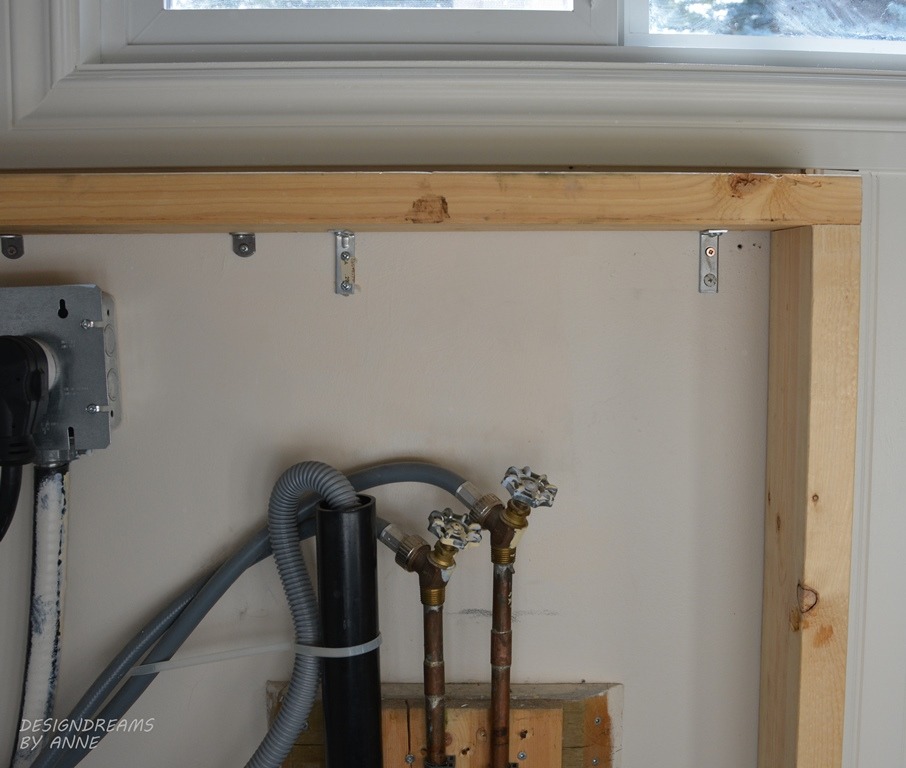 DesignDreams by Anne: Hiding Ugly Pipes in Laundry Room