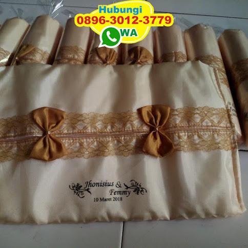 souvenir pernikahan tempat tisu elegan 52989
