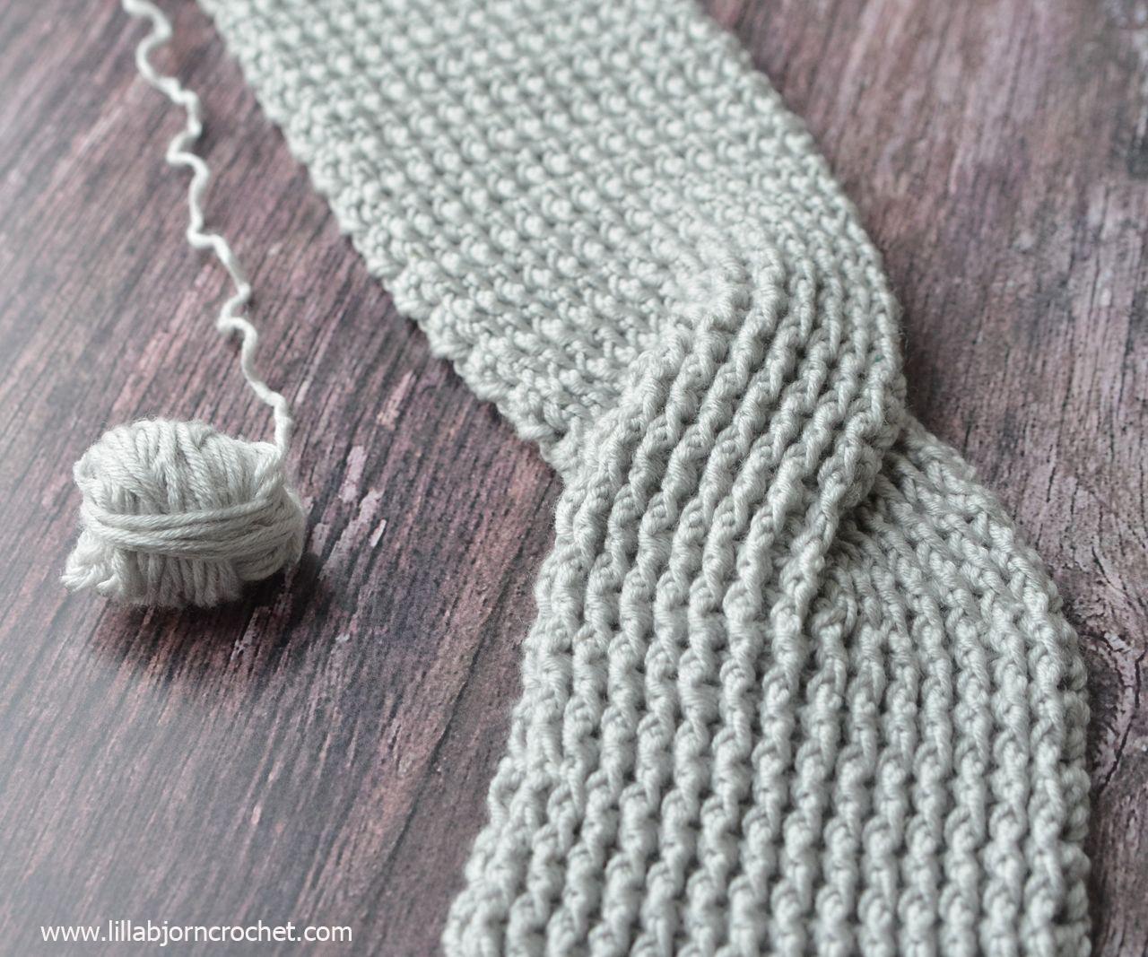 Rib Turban Headband - free crochet pattern