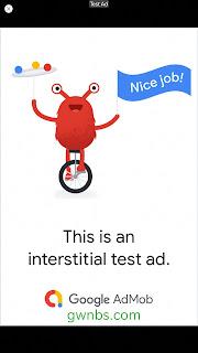 cara memasang iklan interstitial admob
