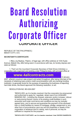 Board Resolution Authorizing Corporate Officer pdf