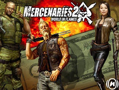 تحميل لعبة القتال و الطاردة Mercenaries 2 World in Flame
