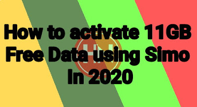 How to activate 11GB Free Data using Simo In 2020
