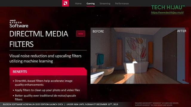 Tech Hijau™ — AMD Radeon Software Adrenalin 2020 Edition - DirectML Media Filters