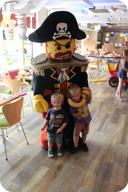 lego pirate at Bricks restaurant