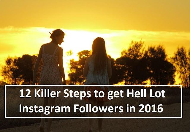12 Killer Steps to get Hell Lot Instagram Followers in 2016