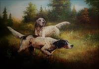 Собаки на поляне, картина
