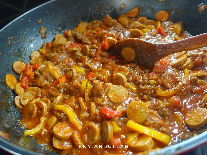 sos Bolognese homemade, resepi kuah Bolognese, spaghetti Bolognese, Bolognese from scratch