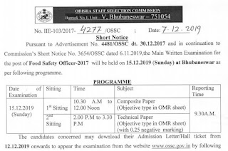OSSC Food Safty Officer (FSO) Old Question Papers – Composite Paper and Technical Paper