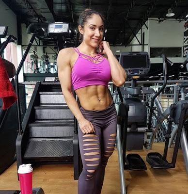 Sandra Grajales in gym