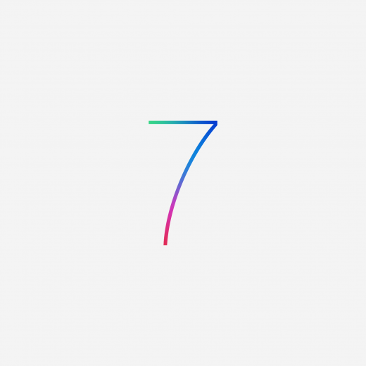 iOS 7 wallpaper for iPad Retina
