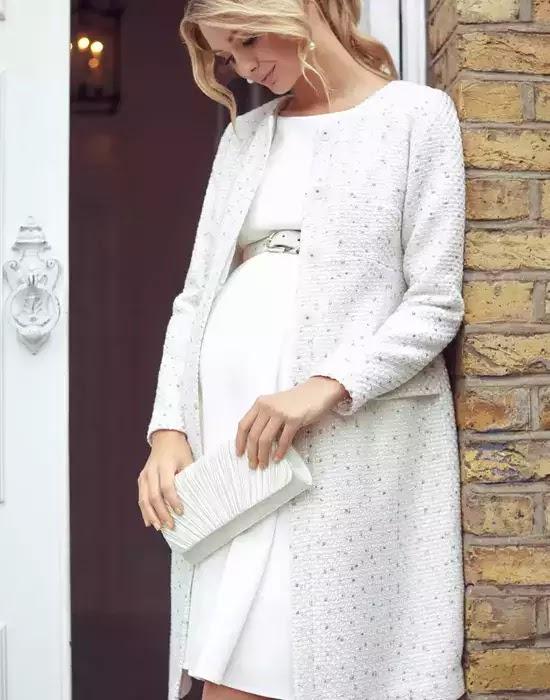 robe de mariée maternité avec col bateau - Tiffany Rose