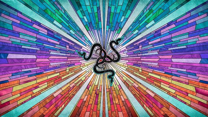 Papel de Parede Razer Abstrato Colorido